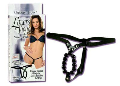 LOVERS THONG W/STROKER BEADS  - SE006003