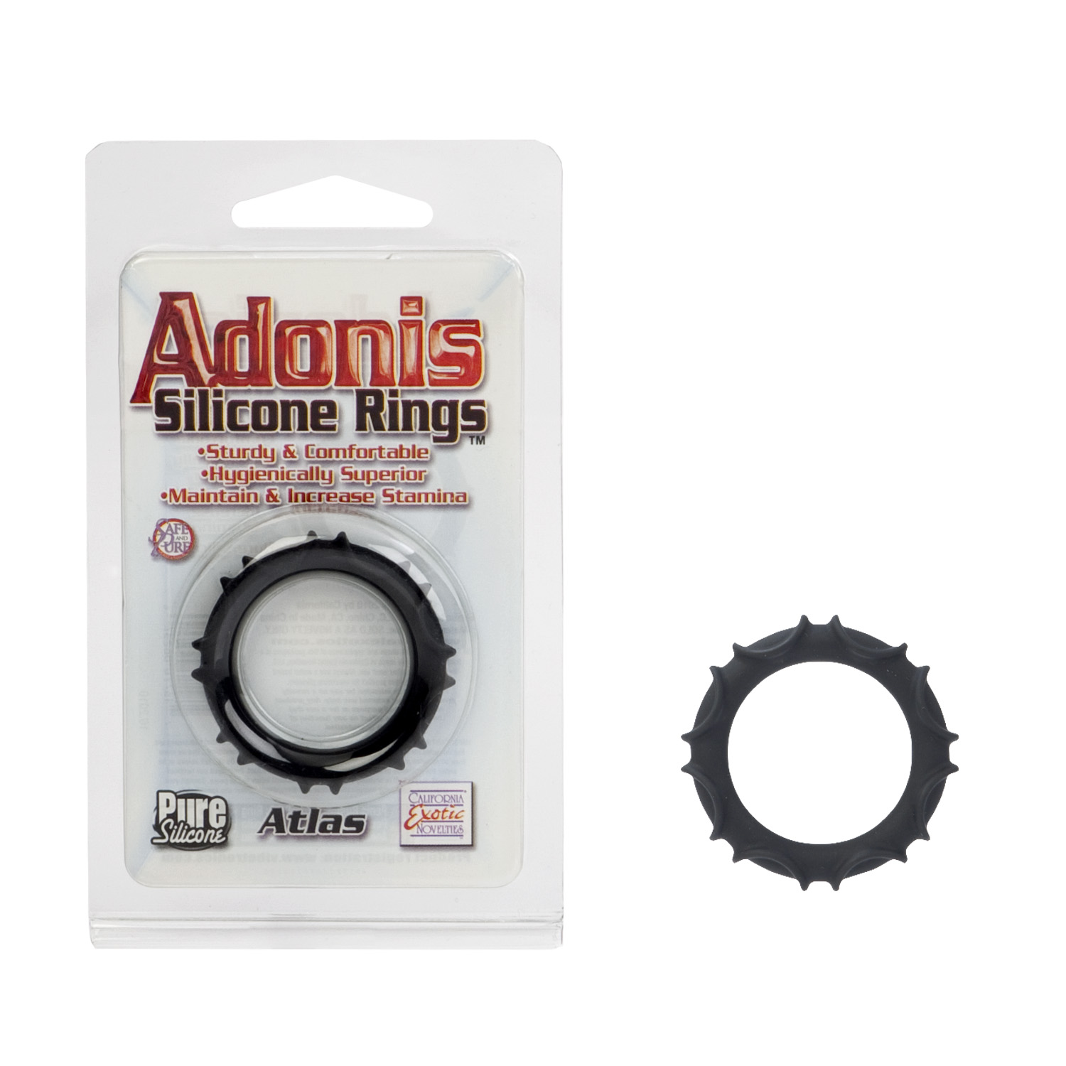 Adonis Silicone Ring Atlas Black