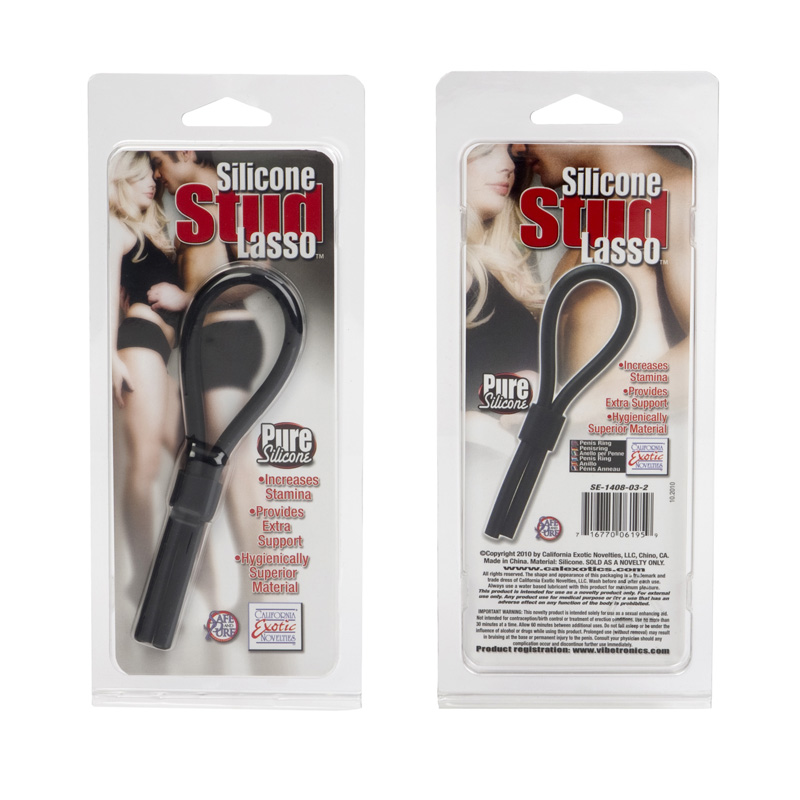 Silicone Stud Lasso Black - SE140803
