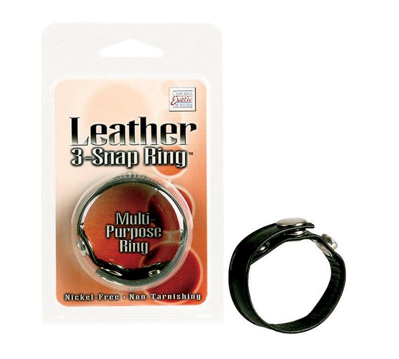 Black Leather Ring - SE141103
