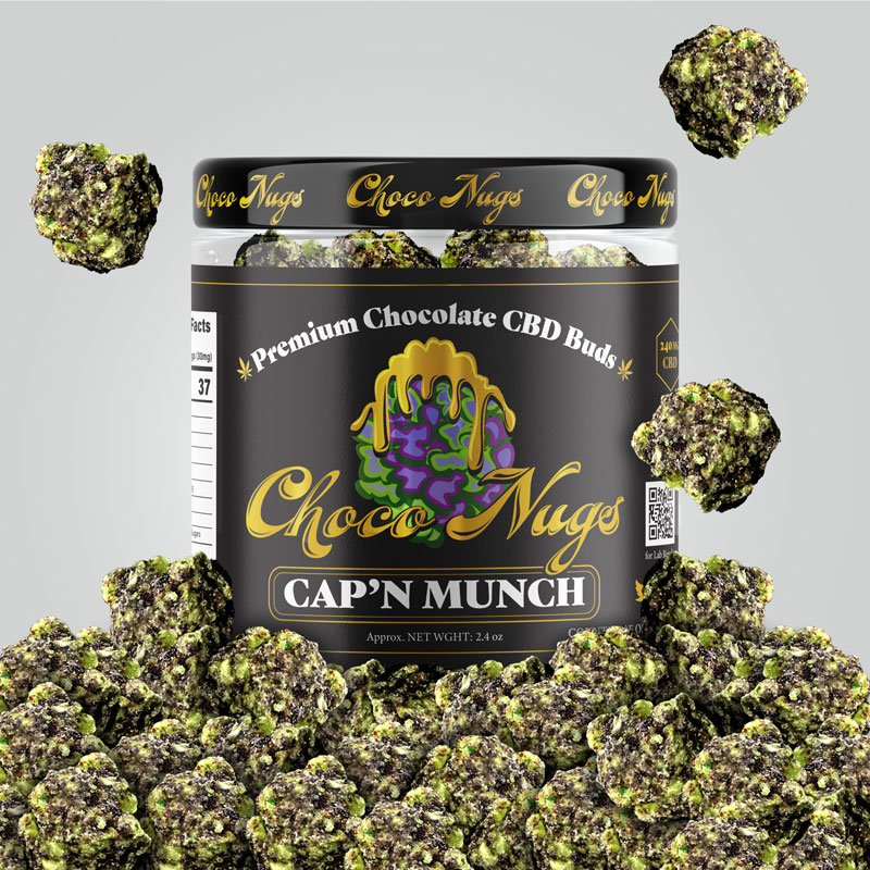 CBD 240MG CHOCO NUGS CAPN MUNCH 2.4 OZ