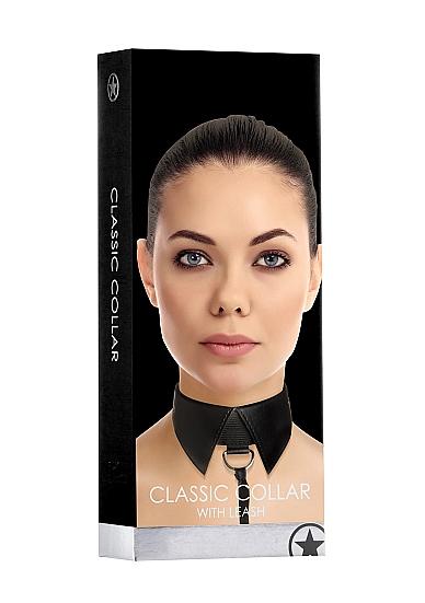 CLASSIC COLLAR W/LEASH BLACK