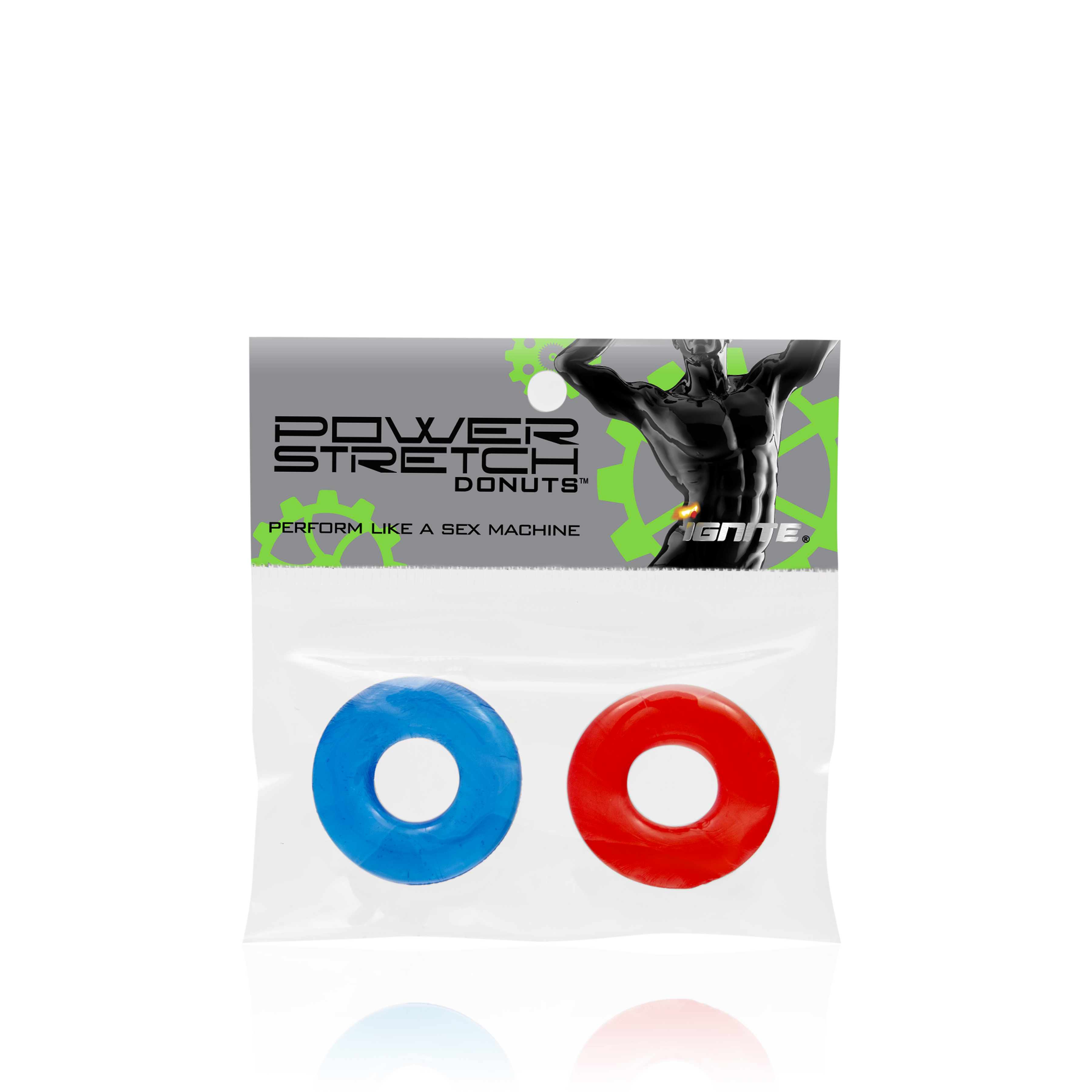 Power Stretch Donuts 2 Pack Red/Blue Rings
