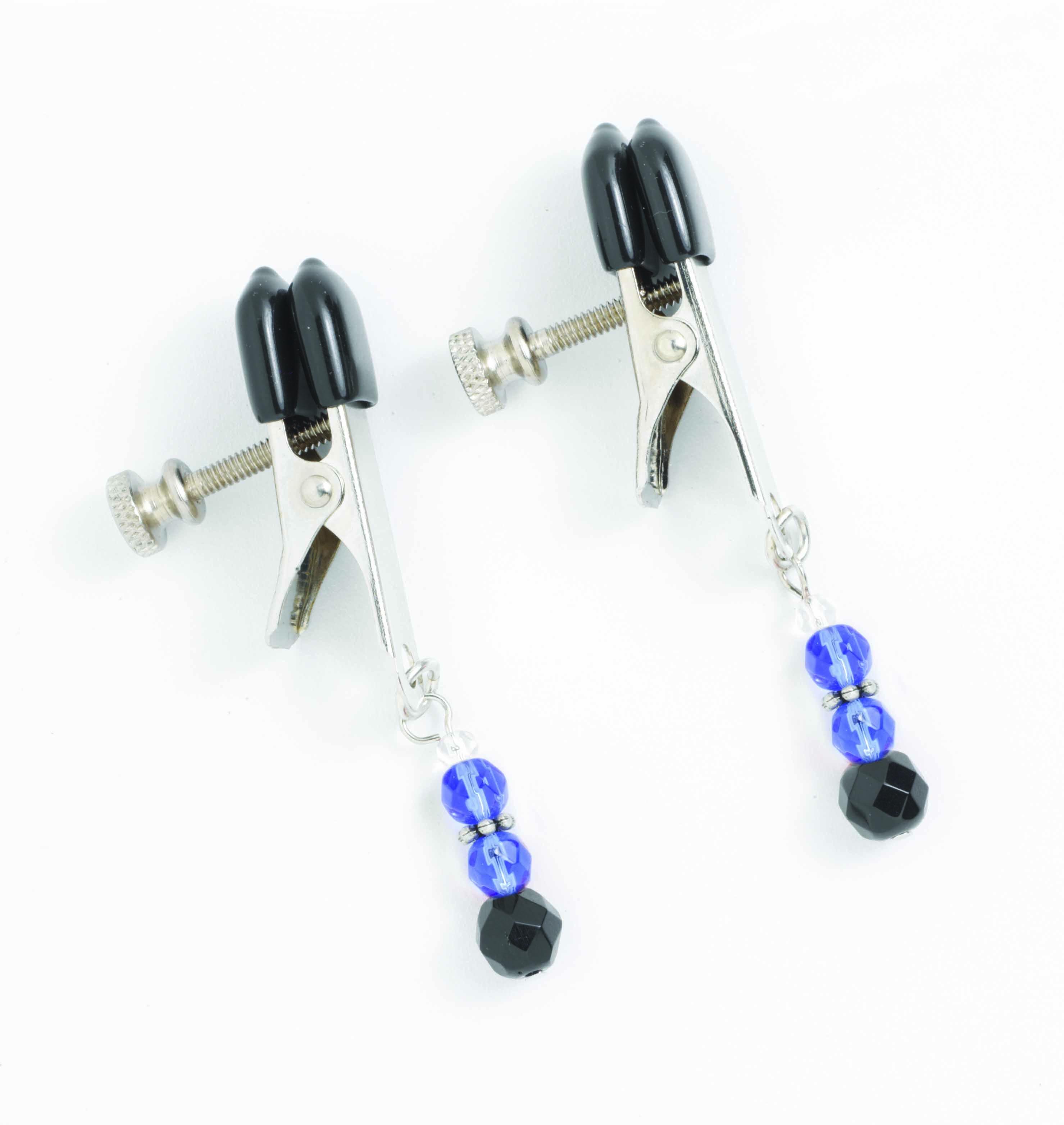 Adj Clamp W/ Blue Beads