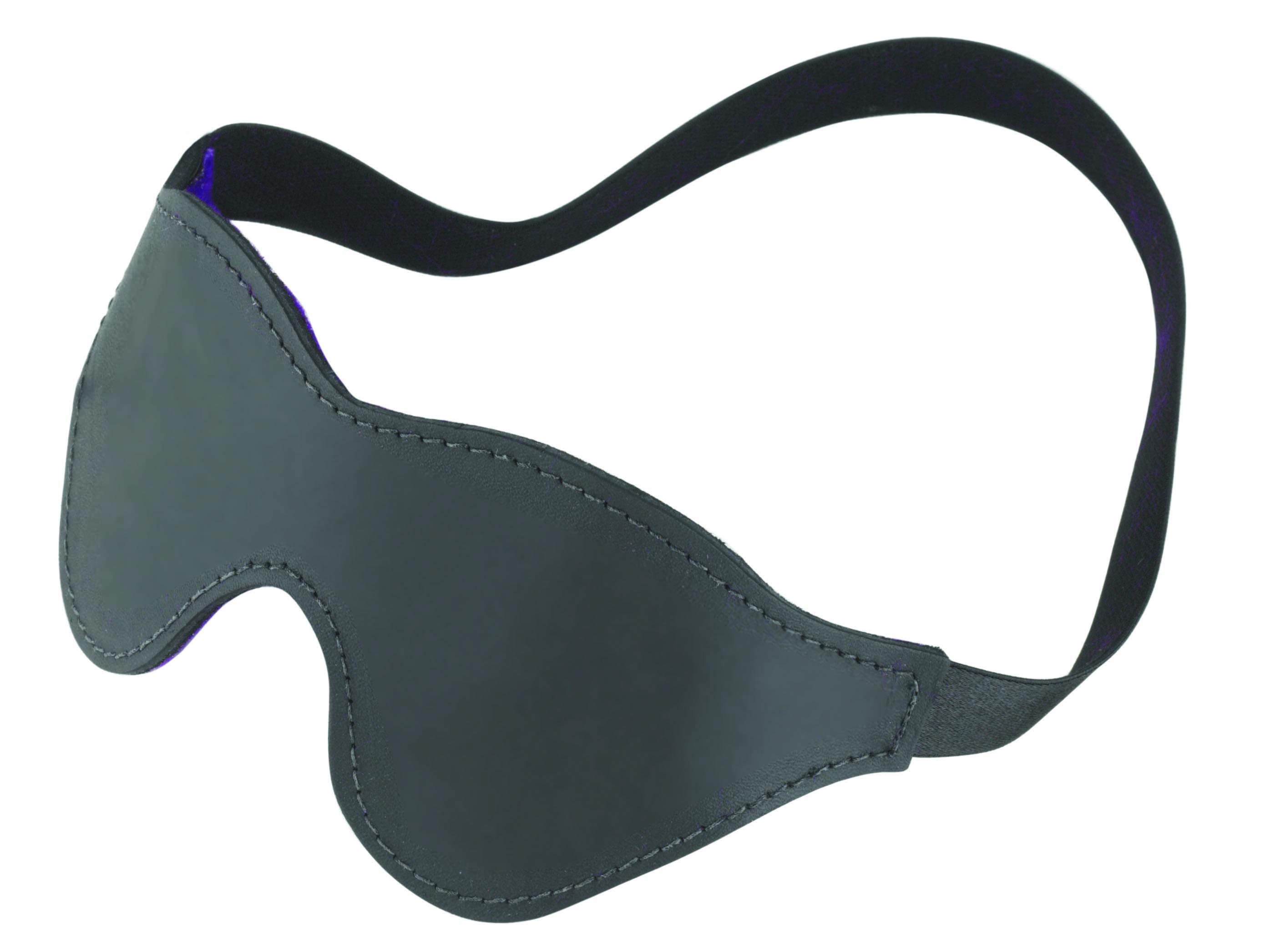 Blindfold Purple W/ Black Fur