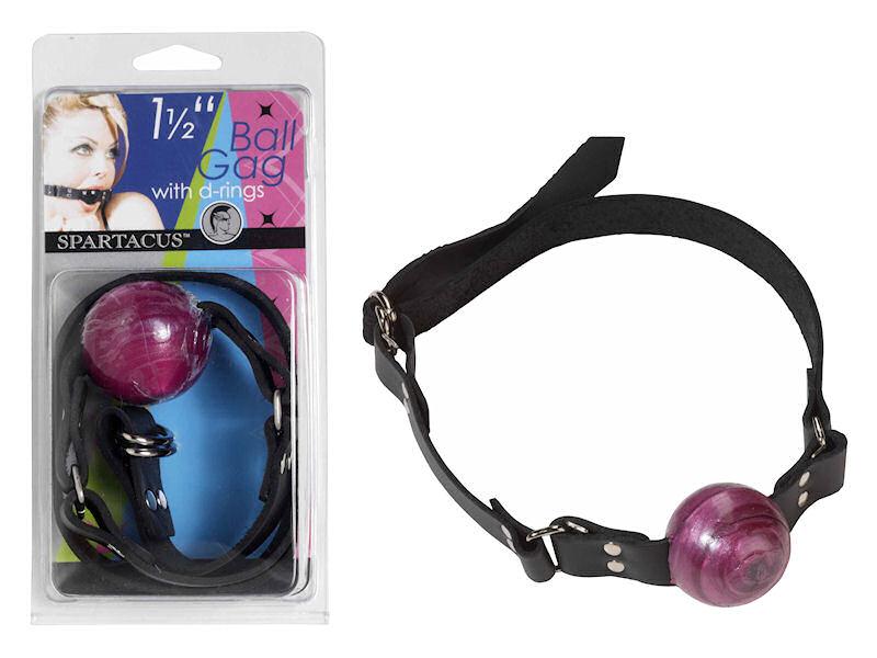 "1 1/2 "" Purple Ball Gag W/ Buckle"