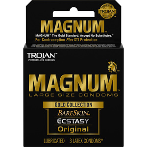 Trojan Magnum Gold Collection 3Pk