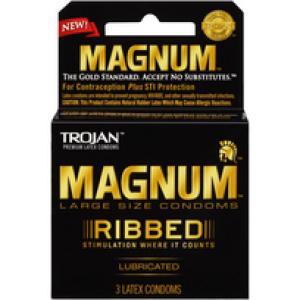 Trojan Magnum Ribbed 3Pk
