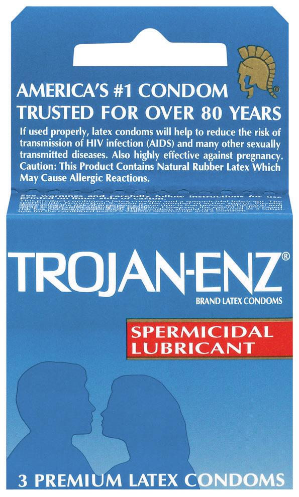 Trojan Enz Spermicidal 3Pk