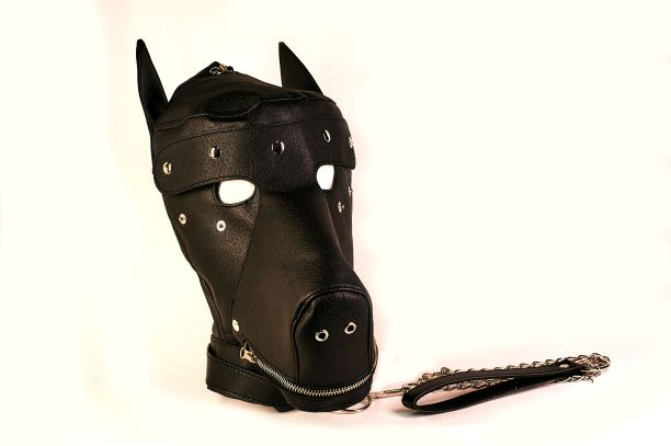 (SPECIAL ORDER) BASIC PUPPY PLAY KIT BLACK MASK TAIL MITTS CARRY PACK