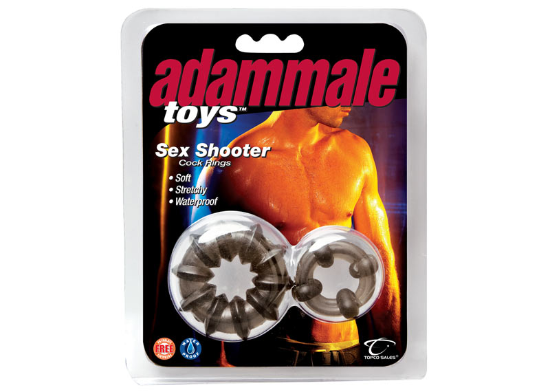 ADAM MALE TOYS SEX SHOOTER COCK RINGS