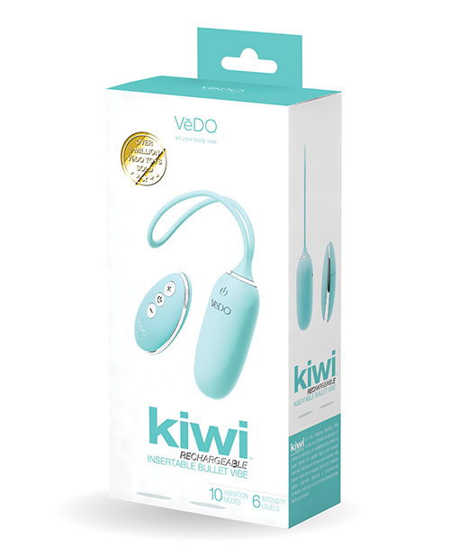 VEDO KIWI RECHARGEABLE BULLET INSERTABLE TEASE ME TURQUOISE