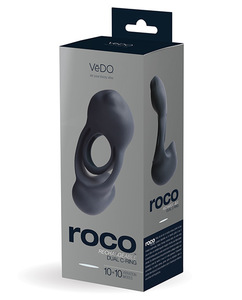 Vedo Roco Dual Motor Vibrating Ring Just Black