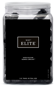 Wet Elite 36Pcs 1Oz Black Water Silicone Blend