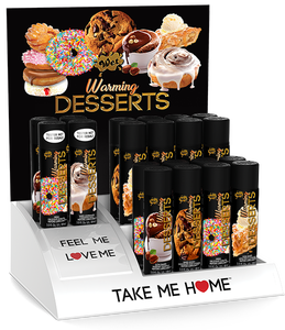 Wet Warming Desserts 16 3 Oz Bottles W/ 4 Free Testers & Free Display