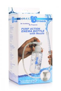 Cleanstream Pump Action Enema Bottle W/ Nozzle 300Ml