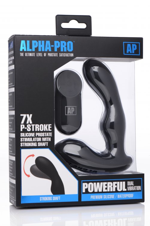 ALPHA-PRO 7X P-STROKE SILICONE PROSTATE STIMULATOR - XRAG149