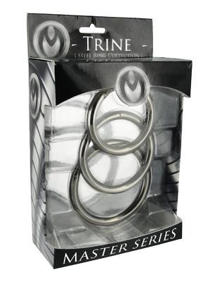 MASTER SERIES TRINE STEEL COCK RING SET