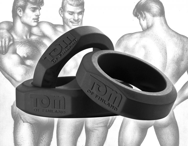 TOM OF FINLAND 3 PIECE COCK RING SET SILICONE